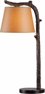 Kenroy Home 32451BRZD Overhang Rustic Bronzed Table Lighting