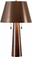 Kenroy Home 32568ANCP Biblio Antique Copper Side Table Lamp