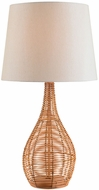 Kenroy Home 32636LRAT Hughes Light Rattan Table Top Lamp