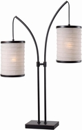 Kenroy Home 32762ORB Lanterna Modern Oil Rubbed Bronze with Gold Highlights Table Lamp Lighting