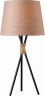 Kenroy Home 32765BRZ Trio Bronze with Rope Accents Table Top Lamp