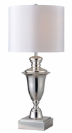 Kenroy Home 32769PN McClelland Polished Nickel Side Table Lamp