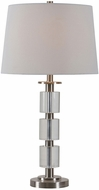 Kenroy Home 32796BSCRY Rochelle Brushed Steel with Crystal Accents Table Lighting