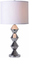 Kenroy Home 32804CH Dreidel Chrome Side Table Lamp