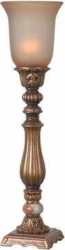 Kenroy Home 32810GLD Turner Traditional Gold Antiqued Lighting Table Lamp