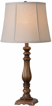 Kenroy Home 32811GLD Turner Traditional Gold Antiqued Table Lamp Lighting