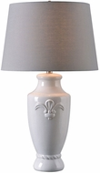 Kenroy Home 32836WH Crackle White Crackle Ceramic Lighting Table Lamp