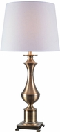 Kenroy Home 32898AB Isaac Antique Brass Lighting Table Lamp