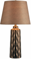 Kenroy Home 32901COP Powers Copper Ceramic Table Top Lamp