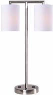 Kenroy Home 32906BS Maddox Contemporary Brushed Steel Side Table Lamp