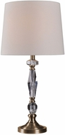 Kenroy Home 32914AB Neo Antique Brass with Crystal Accents Table Top Lamp