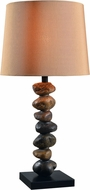 Kenroy Home 33000STN Rubble Stone Outdoor Table Lamp