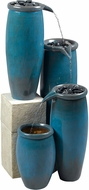 Kenroy Home 50008BG Agua Blue Glaze Exterior Floor Fountain