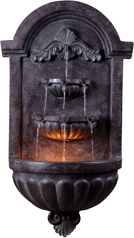 Kenroy Home 50024PLBZ San Marco Plum Bronze Halogen Exterior Wall Fountain.  Loading Zoom
