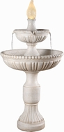 Kenroy Home 50057RW Liberty Roman White LED Outdoor Floor Fountain