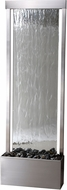 Kenroy Home 50069SS Glissade Stainless Steel with Mirror Face Exterior Floor Fountain