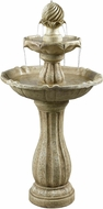 Kenroy Home 50194SS Arcade Sandstone Outdoor Solar Floor Fountain