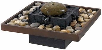 Kenroy Home 50233BRZ Bliss Two Toned Bronze Indoor Table Fountain