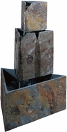 Kenroy Home 50287SL Stacked Triangles Natural Slate  Exterior Floor Fountain