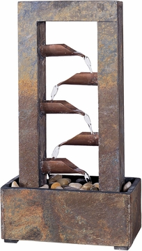 Kenroy Home 50307SLCOP Waterdrop Natural Slate and Natural Copper Indoor Table Fountain