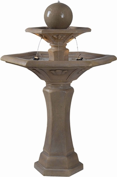 Kenroy Home 50325DT Provence Dark Travertine Halogen Exterior Floor Fountain