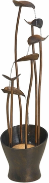 Kenroy Home 50332ACB Leaves Aged Copper Bronze Halogen Outdoor Floor Fountain