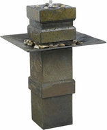 Kenroy Home 53210SL Cubist Natural Slate Outdoor Floor Fountain