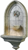 Kenroy Home 53265CT Canterbury Traditional Cement Halogen Outdoor Wall Fountain