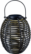 Kenroy Home 60530RAT Coil Black LED Exterior Solar Lantern