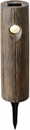Kenroy Home 60553 Cole Wood Grain LED Outdoor 1 Light Solar Path Light
