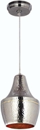Kenroy Home 92059HNBR Dervish Modern Hammered Nickel Plate, Brass Inner Mini Hanging Pendant Lighting