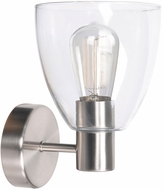 Kenroy Home 92091BS Edis Contemporary Brushed Steel Wall Sconce Lighting