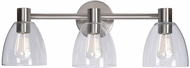 Kenroy Home 92093BS Edis Contemporary Brushed Steel 3-Light Bathroom Lighting