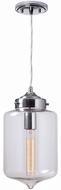 Kenroy Home 93007CH Casey Contemporary Chrome Mini Lighting Pendant