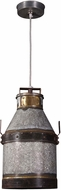 Kenroy Home 93046GI Cudahy Vintage Galvanized Iron with Bronze Accents Hanging Light Fixture