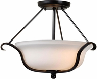 Kenroy Home 93117ORB Basket Oil Rubbed Bronze Ceiling Light Fixture