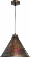 Kenroy Home 93120FCOP Cuprum Flamed Copper Drop Ceiling Light Fixture