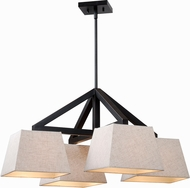 Kenroy Home 93124ORB Intersect Oil Rubbed Bronze Chandelier Light