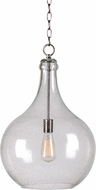 Kenroy Home 93186CLR Rhone Contemporary Brushed Steel Lighting Pendant