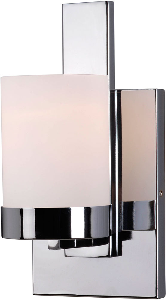 Modern Chrome Wall Sconces : Kenroy Home 93221CH Eastlake Modern Chrome Wall Sconce Light - KEN-93221CH