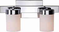 Kenroy Home 93222CH Eastlake Contemporary Chrome 2-Light Bath Light Fixture