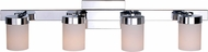 Kenroy Home 93224CH Eastlake Contemporary Chrome 4-Light Bathroom Light Fixture