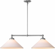 Kenroy Home 93246BS Conical Brushed Steel Kitchen Island Light Fixture