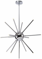 Kenroy Home 93272CH Atom Modern Chrome LED Pendant Lighting Fixture