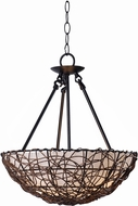 Kenroy Home 93307RAT Thicket Rattan Hanging Pendant Light