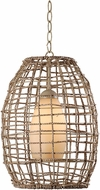 Kenroy Home 93316TN Seagrass Contemporary Tan Drop Ceiling Lighting
