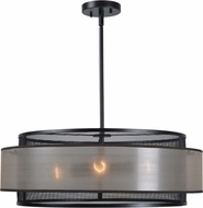Kenroy Home 93329ORB Alessandra Modern Drum Ceiling Pendant Light