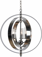 Kenroy Home 93348CH Jaquelyn Contemporary Chrome Mini Chandelier Light