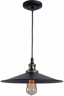Kenroy Home 93371BL Ancestry Modern Black and Antique Bronze Pendant Light Fixture