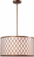 Kenroy Home 93373AG Tripoli Antique Gold Drum Pendant Lighting Fixture